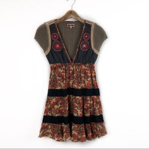 Free People Knit and Embroidered Dress Size 2